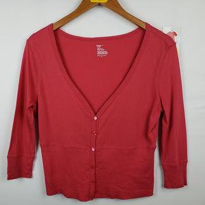 Gap Womens Cardigan Sweater 3/4 Sleeve Button Down